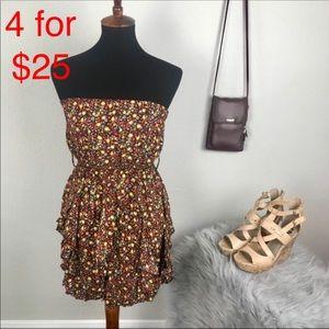 Chesley floral print Stapless ruffle mini dress M